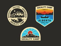 Socality Camp Badges