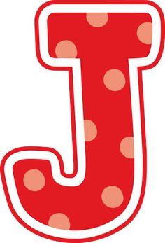 ® Gifs y Fondos Paz enla Tormenta ®: LETRAS MAYÚSCULAS DE COLORES PARA IMPRIMIR Polka Dot Letters, Monogram Letters, Polka Dots, Teaching The Alphabet, Letter J, Letter Symbols, Alphabet And Numbers, Printable Quotes, Applique