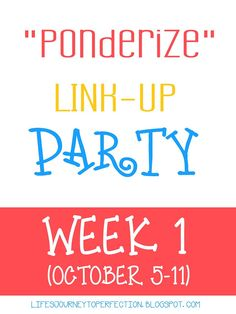 "Life's Journey To Perfection: ""Ponderize"" Scripture Week !: 1 Nephi 3:7"