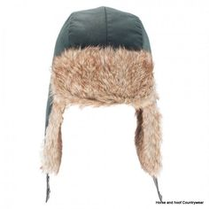 Heather Hats Loughrigg Wax Trapper Hat - Olive The Loughrigg is a wax trapper hat with top quality faux fur trims Quilted satin lining in the crown