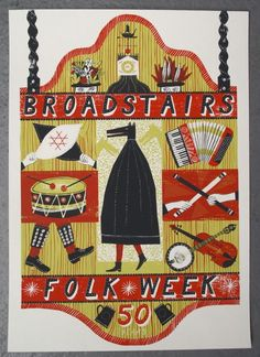 The Print Block: Broadstairs Folk Week - folky composition and textures