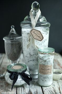 Homemade Lavender Bath Salt & Printable Labels