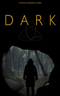 Dark (Netflix)- If you watch this, I recommend switching the settings to German audio with English subtitles. (The American-English dubbing is scheiße. Series Movies, Tv Series, Black Poster, Ver Series Online Gratis, Series Poster, Imagenes Dark, Dibujos Dark, Dark Tumblr, The Darkness