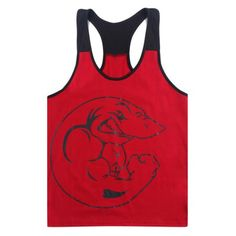 Men's Y-type BodyBuilding Fitness Tank Top Shark Print Training Exercise Slim Vest Color:Red Size:M Bodybuilding Training, Bodybuilding Workouts, Powerlifting Training, Workout Pictures, Fitness Pictures, Body Building Men, Workout Tank Tops, Mens Fitness, Athletic Tank Tops
