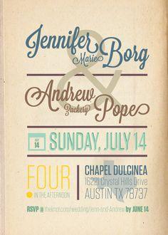 Texas Wedding Invitations by Grant Fisher, via Behance
