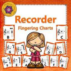 Colorful elementary music bulletin board to help reinforce soprano recorder fingering charts. Pick your style!  Great music education resource!