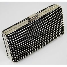 Black is Beauty Black Clutch Bags, Black Bags, Sparkly Clutches, Bags Uk, Fashion Bags, Womens Fashion, Purses And Handbags, Design, Diamonds