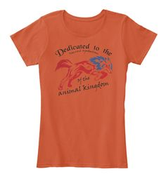 Ltd Edition Animal Kingdom  Deep Orange T-Shirt Front