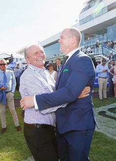 Mike Tindall Photos - Gerry Harvey and Mike Tindall at Magic Millions Raceday on January 2017 in Gold Coast, Australia. - Magic Millions Raceday Princess Beatrice, Princess Elizabeth, Princess Eugenie, Queen Elizabeth Ii, Magic Millions, Jack Brooksbank, Mike Tindall, January 14, Coast Australia