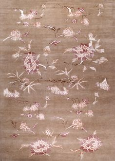 Peony, dusty blossom – This collection combines traditional patterns with a modern day aesthetic to create perfect designs for a transitional style.  These classically refined and ethically crafted Tibetan rugs combine the unique style and unequaled craftsmanship that New Moon is best known for.