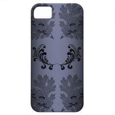 Blue Black Leaves iPhone 5 Case