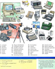 Computers telephones and cameras vocabulary Please take time and like our…
