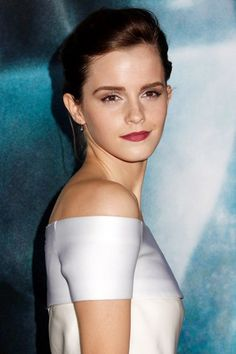 Emma Watson con un maquillaje natural.