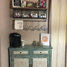 Palos Antique 2 Door Accent Cabinet – The Best Home Coffee Stations Ideas, Tips and Designs Coffee Bar Station, Coffee Station Kitchen, Coffee Bars In Kitchen, Coffee Bar Home, Home Coffee Stations, Coffe Bar, Espresso Coffee, Coffee Area, Coffee Nook