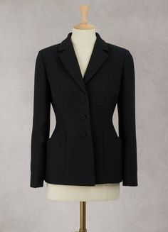 Dior Bar wool and silk jacket Fashion Line, Work Fashion, Fashion Outfits, Cristian Dior, Show Jackets, Couture Details, Silk Jacket, Cool Street Fashion, Mode Inspiration