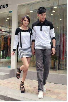 nama baju couple : Dress Motex    pilihan warna : sesuai gambar    bahan : cotton combed    ukuran :    cowok L  cewek M
