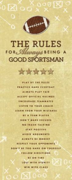 HM Good Sportsman Rules (Football) designed by: Roxanne Buchholz 8x20 Wrapped Canvas Template ID: 91493