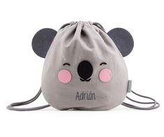 Mini Mochila Saco Personalizable Eef Koala Gris