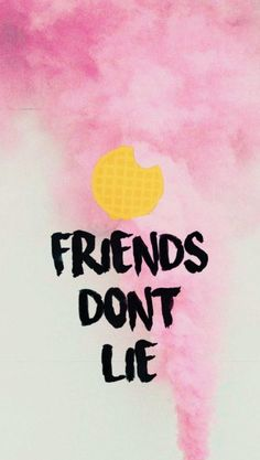 friends don't lie, written in black on pink and white background, stranger things phone wallpaper, eggos waffle above it Stranger Things Tumblr, Stranger Things Quote, Stranger Things Aesthetic, Stranger Things Season 3, Eleven Stranger Things, Stranger Things Netflix, Wallpaper Iphone Cute, Cute Wallpapers, Wallpaper Ideas