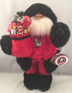 Georgia Bulldogs Santa Claus by DianesHeirloomSantas on Etsy