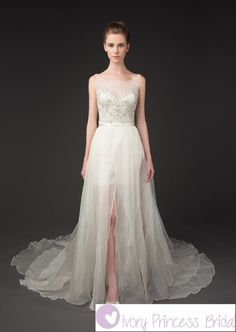 Hi-Low Wedding Dress Vintage Wedding Dress with Short Skirt  $500 plus shipping  Ivory Princess Bridal
