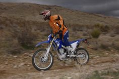 Standing on a Yamaha WR250R