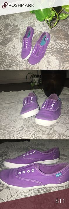 🌸Purple Keds🌸 size 6.5 They were worn a couple times but don't have shoelaces. I loved how these shoes would give my outfits the perfect pop of color. Keds Shoes Sneakers