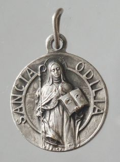 Saint ODILE Sancta Odilia Vintage Religious by CherishedSaints