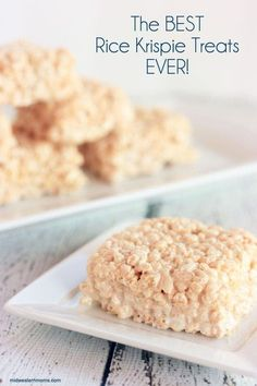 The BEST Rice Krispie Treats EVER! This recipe makes your treats into ooey gooey goodness! You will never make the original recipe again!