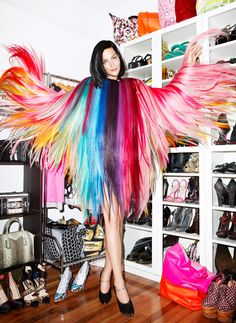 "harpersbazaar: "" Closet of the Month: Leigh Lezark Jennifer Livingston, November 2012 mueble para zapatos """