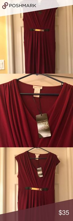 Monroe and Main Dress *Never Worn* Flattering modified Grecian style with belted accent. Fully lined. Never worn. Tags still on!!! Monroe & Main Dresses