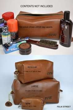 Cowhide Leather, Leather Men, Dopp Kit, Mens Essentials, Grooming Kit, Toiletry Bag, Leather Cover, Leather Craft, Cosmetic Bag