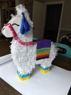 Llama Pinata Party Animals, Animal Party, Llama Birthday, 12th Birthday, Baby Birthday, Alpacas, Diy Piñata, Llama Decor, Valentine Day Boxes