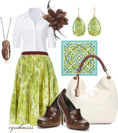 """Apple Green"" by cynthia335 on Polyvore"