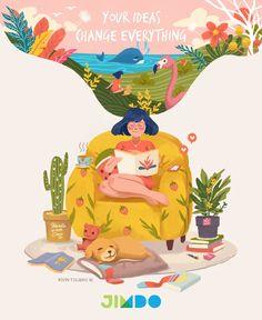 Your Ideas Change Everything Kevin Tolibao on Talenthouse Texture Illustration, Children's Book Illustration, Character Illustration, Graphic Design Illustration, Digital Illustration, Illustration Children, People Illustration, Posca Art, Poster S