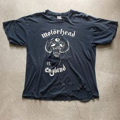 "Thrashed Motörhead England ""Everything Louder Than Everything Else"" T-shirt $65+$8(shipping) domestic. Size XL (29""x23""). Contact the shop at 415-796-2398 to purchase by phone or PayPal afterlifeboutique@gmail and reference item in post."