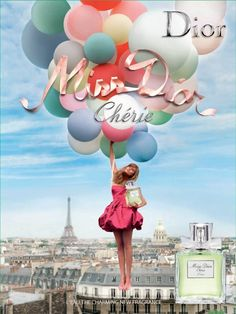 Sofia Coppola created an evocative campaign for Miss Dior Cherie using balloons and Paris as a background @Dior