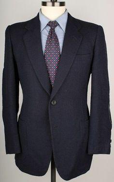 $3695+ D'Avenza Navy w/ Leather Elbow Patches 42 R Mens Sport Coat Blazer  http://www.ebay.com/itm/251437456529?ssPageName=STRK:MESELX:IT&_trksid=p3984.m1558.l2649