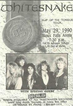 Whitesnake Concert Ad https://www.facebook.com/FromTheWaybackMachine