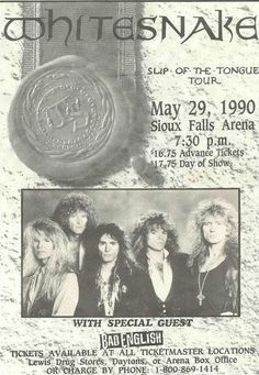 Whitesnake Concert Ad https://www.facebook.com/FromTheWaybackMachine