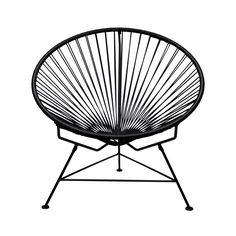 Pretty sure these would look awesome on the on our patio! Sunburst Hoop Modern Lounge Chair in Black | dotandbo.com