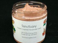 """MOOSE WHIP"" Chocolate Marshmallow Scent WHIPPED SOAP 8 oz Jar  #SanctuarySoap"