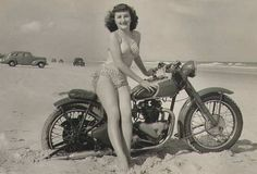 Beach babe & bike