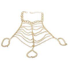 Sale 26% (2.11$) - Gold Multilayer Tassel Alloy Hand Link Chain Bracelet For Women