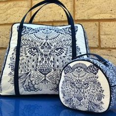 Weekender and vanity bags featuring Bengal fabrics by @lossiemade