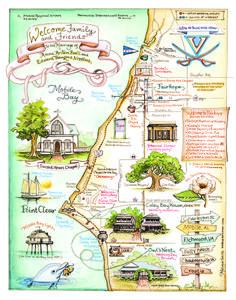 Custom Wedding Map by MelissaGail Smith