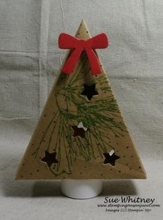 Paper Pumpkin Lighted Christmas Tree