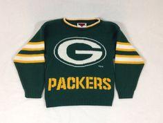 NFL Jerseys - Vintage 80s Green Bay Packers Knit Sweater (Size: S/XS - Women ...