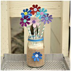 Recycled egg carton flower arrangement craft