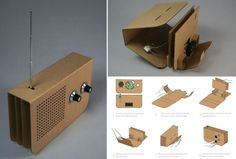 Environmentally Sound cardboard radio by Chris McNicholl. Produced as a flat sheet, user can easily assemble the radio without glue.